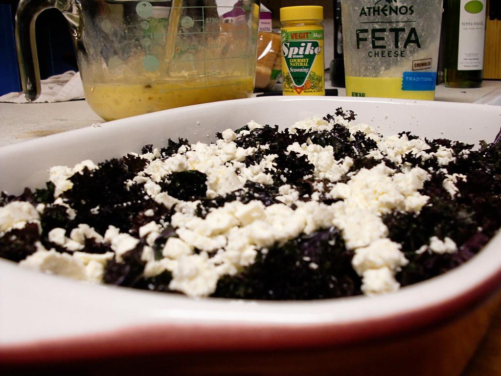 Kale and Feta Casserole