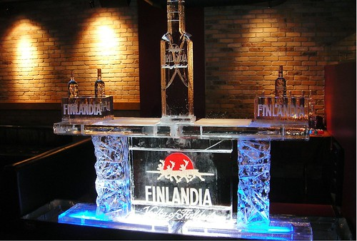 Finlandia Ice bar ice sculpture
