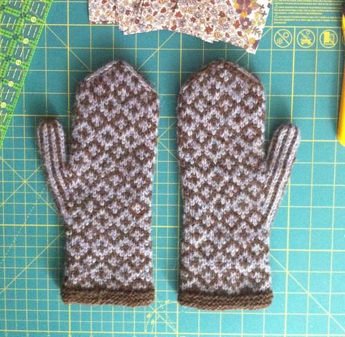 Soft Shetland mittens