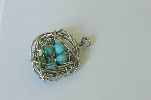 Five Aqua Eggs in a Nest