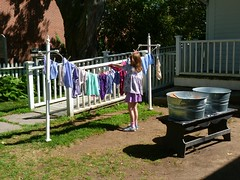 Mystic Seaport - Mystic CT (Rusty Clark - On the Air M-F 8am-noon) Tags: wash laundry clothesline tubs