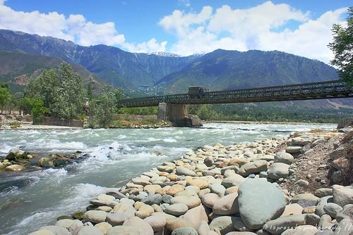The bridge across river Sindh