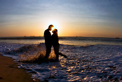 I rise to taste the dawn, and find that love alone will shine today. (Maaar) Tags: bali love beach nusadua prewedding romanticmoment img3425 romanticcouple tegalwangibeach sunsetprewedding kenwilberquote