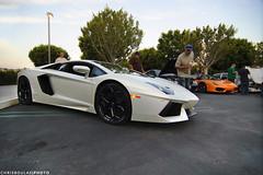 Matte White Lamborghini Aventador (chrisboulas) Tags: california county ca orange white cars coffee 1212 4 tokina socal lp oc 700 lamborghini irvine matte aventador lp7004