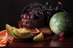 Sputnik (panga_ua) Tags: lighting summer stilllife color art fruits composition canon spectacular artwork berries dof basket image artistic availablelight satellite august ukraine poetic watermelon explore creation fabric imagination natalie sputnik arrangement plums tabletop gettyimages bodegon naturemorte panga artisticphotography rivne naturamorta artphotography sharpfocus seabuckthorn kalyna guelderrose explored polishedsurface  nataliepanga stunningphotogpin