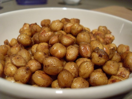 Garam Masala Roasted Chickpeas