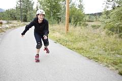 Skating the Millenium Trail (qousqous) Tags: motion fun exercise path ashley skating rollerskates trail yukon whitehorse rollerskating mup ef1740mmf4lusm multiusepath millenniumtrail