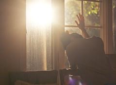 [フリー画像] 人物, 人と風景, 窓辺, 落ち込む・落胆, 201109010500