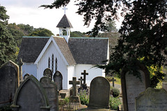 Church. (Happyonetwo) Tags: wood trees white church grass graves infocus highquality elementsorganizer