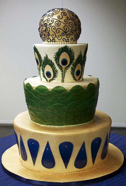 peacock wedding cake toronto