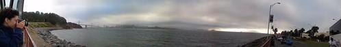 Panoràmica sota la boira de San Francisco