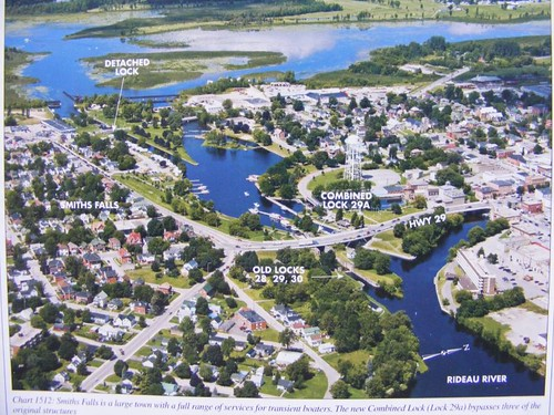 Overview of Smiths Falls Lock Area