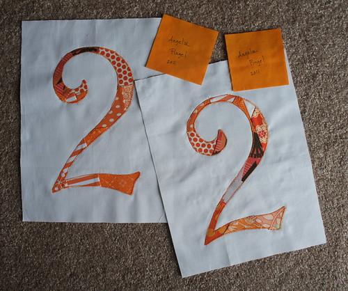 Two orange twos