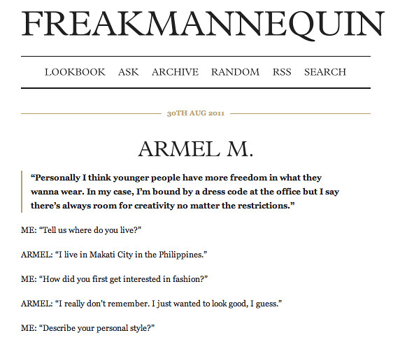 interview - freakmannequin