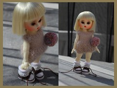 Ling Ling ~ New kid on the block (LoveOnTheRox!) Tags: knit tiny bjd resin abjd onesie buu lingling knitdress shershe itsashershething muculdoll muculdollbuu