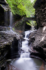 Watkins Glen (material guy) Tags: bridge newyork waterfall canyon watkinsglen ndfilter