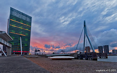 Just another sunset... in Rotterdam (zzapback) Tags: city sunset urban holland robert netherlands dutch skyline clouds de evening zonsondergang rotterdam europa europe long exposure fotografie angle wide nederland wolken sigma le van avond kpn 1020mm ultra stad kop erasmusbrug zuid voogd rotjeknor vormgeving groothoek grafische bergselaan liskwartier zzapback zzapbacknl robdevoogd stayawakeenjoyyourday