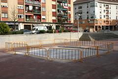 Damero del parque San Pelayo en fase de nueva costrucción.