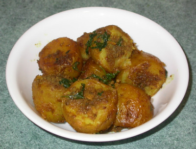 New Potatoes with Turmeric