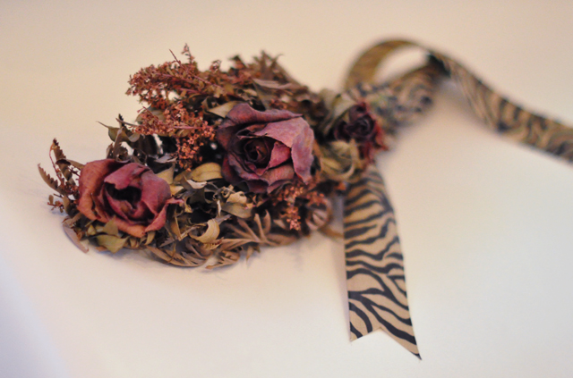 dried wedding flowers bouquet