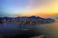 Sunset behind Hong Kong Island (Explored) (b80399) Tags: china sunset sunrise island hongkong asia harbour district central bank financial ifc causewaybay causeway admiralty wanchai 2ifc bayvictoria earthasia wancha 127858295