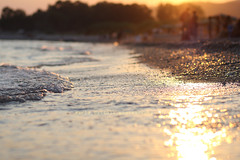 The end of the summer. (Maria Dattola) Tags: copyright canon tramonto mare  2011 85mmlens mariadattola