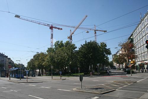 Kräne - Sandstraße, Ecke Dachauer Straße