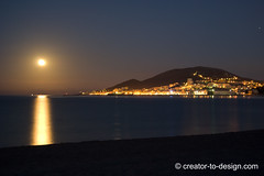 Corse 2011, Coucher de Lune (Christian Picard) Tags: light reflection tourism water night lights exposure shot dusk corse ajaccio nocturne diaporama coucherdelune duskblue