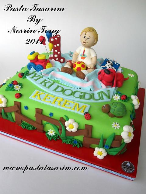 KEREM 1ST BIRTHDAY CAKE