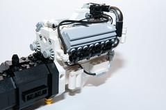 DetroitDiesel_8V92T_01 (Maciej Drwiga) Tags: truck lego detroitdiesel 8v92t 8v92