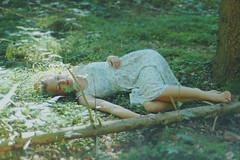 (laura zalenga) Tags: light sun tree green feet nature forest quiet hand dress arm sister leg ground calm laying laurazalenga