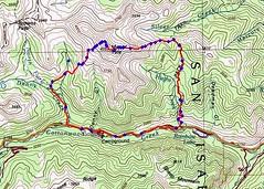 Mt. Yale Loop Hike Topo