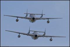 Duxford-0637 Vampire Pair (simon_x_george) Tags: uk canon eos vampire aviation airshow 7d iwm 2011 2xtc canonef300mmf28lisusm 2011duxfordairshow