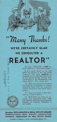 1 of 4 ads created by the Philadelphia Real Estate Board in 1941.