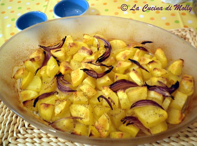 patate al forno e cipolla rossa; (1)