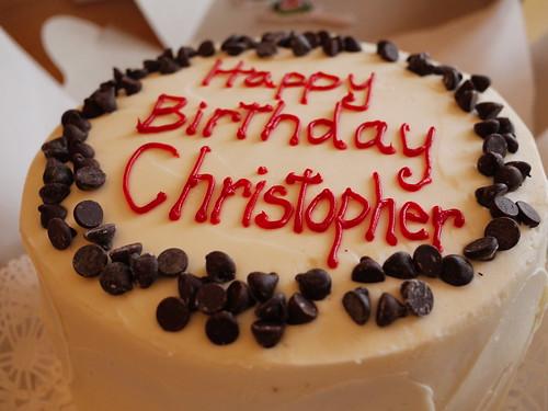 Happy Birthday Cake Christopher