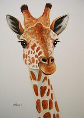 Giraffe portrait in watercolour (serene04) Tags: portrait art painting watercolour giraffe