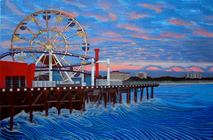 Santa Monica Pier, Acrylic on Canvas 2010
