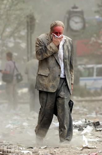 A man walking on 9/11