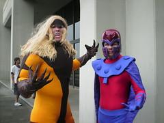 Sabertooth and Magneto (Adam Antium) Tags: dragon con 2011 xmen sabertooth magneto costumes costume cosplay tights spandex adam antium cosplayer lycra tight costumer superhero super hero