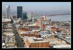 Downtown Skyline of Louisville, Kentucky (SkylineScenes (Bill Cobb)) Tags: city urban water skyline river downtown cityscape waterfront kentucky aerial louisville riverfront ohioriver nationalcity waterfrontplaza fourteenthstreetbridge gasandelectric georgerogersclarkmemorialbridge skylinescenes