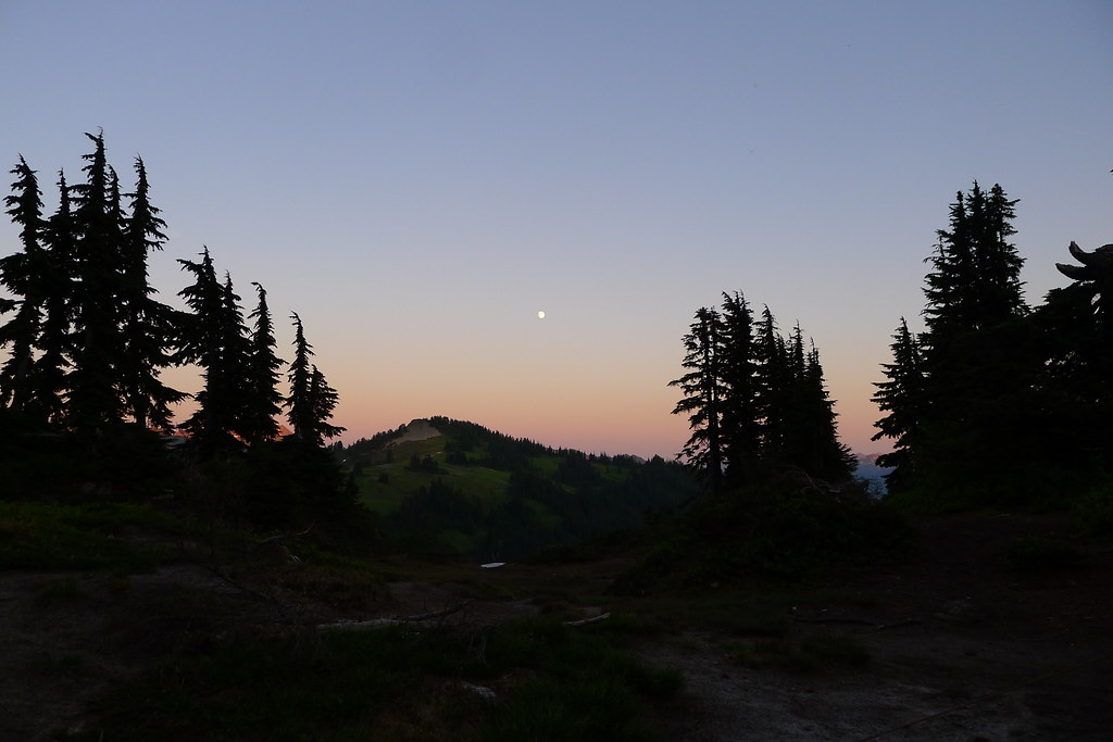 Moonrise over Bryant Peak