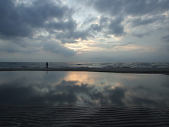 Texel diaries (3) (henk hessel photography) Tags: sunset sky reflection beach clouds landscape island northsea texel