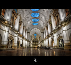 The Great Hall (Tobias Lindman) Tags: panorama museum architecture photoshop nikon sweden stockholm details swedish stitching photomerge nikkor stitched dri hdr hdri nordiska museet topaz adjust infocus postprocessing photomatix 1685 tonemapped tonemapping enhancer denoise cs5 vertorama 1685mm d7000