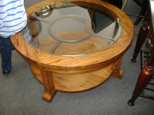 013 Round Glass Coffee Table