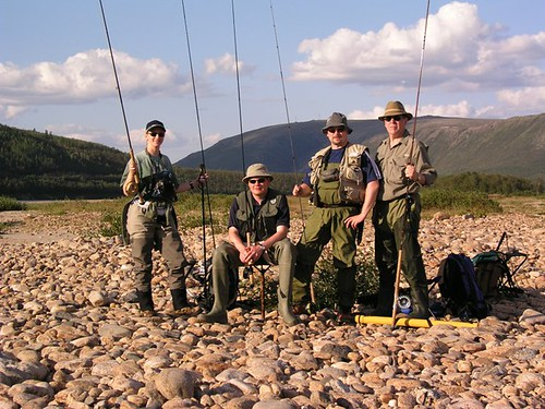 Flyfishing for Salmon on the Teno River, Finland