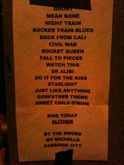 not our set list, but whose is it?