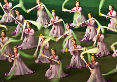 north korea dancers in motion (samthe8th) Tags: motion green women dancers purple northkorea pyongyang dprk purpleandgreen massgames maydaystadium thepinnaclehof tphofweek120