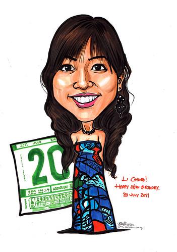 Happy 26th Birthday caricature
