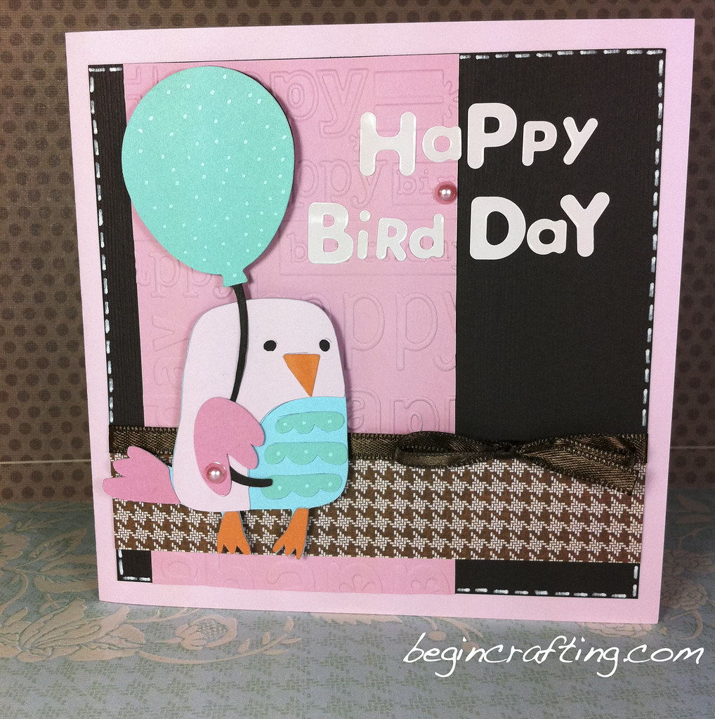 Handmade Happy Bird Day Card